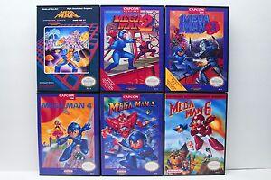 Mega-Man-1-2-3-4-5-6-1-6-NES-Custom-Cases-Set-NO-GAMES-INCLUDED