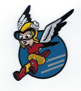 FIFINELLA-WASP-PATCH-NOSE-ART-WW-2-PIN-UP-US-ARMY-AIR-CORPS-PILOT-CREW-WING-WOW