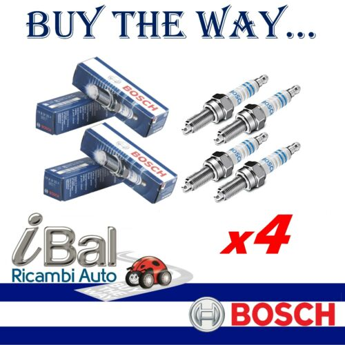 BOSCH 4 CANDELE D/'ACCENSIONE RENAULT CLIO IV 1.2LPG 54KW 2012 IN POI 0242129510