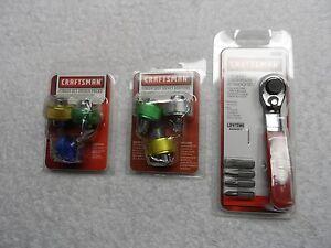 Craftsman-Finger-Screwdriver-Socket-Adapters-Bit-Wrench-Set-USA-11-pcs
