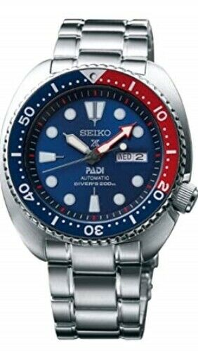 NEW SEIKO PADI EDITION PROSPEX TURTLE DIVERS 200M  PEPSI BLUE RED BEZEL SRPA21