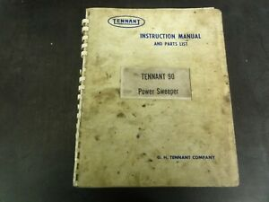 Tennant-90-Power-Sweeper-Instruction-Manual-and-Parts-List-Manual