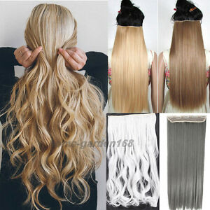 100 real natural clip in hair extensions deluxe thick hair piece image is loading 100 real natural clip in hair extensions deluxe pmusecretfo Images