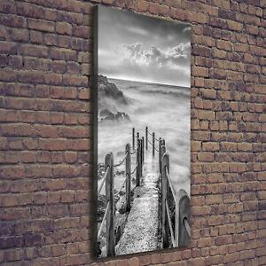 Details Zu Leinwand Bild Kunstdruck Hochformat 50x125 Bilder Weg Meer
