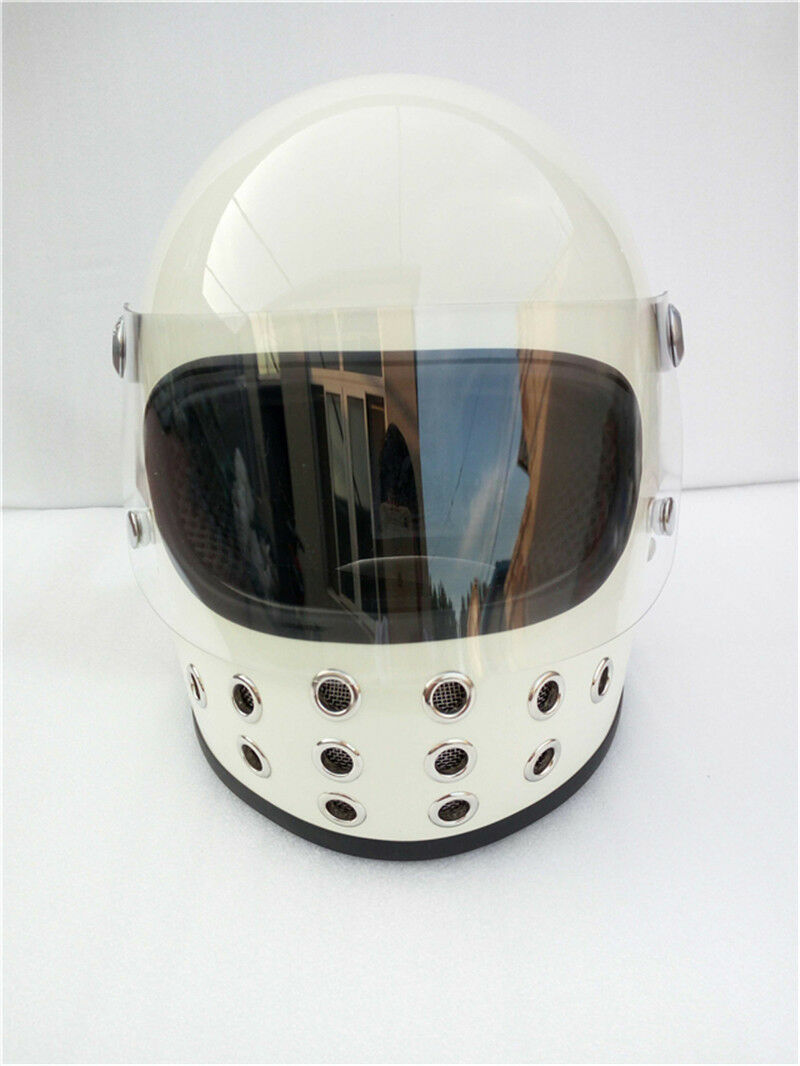 TT&CO Japan Full Face Ghost Rider Motorcycle Helmet Motorbike Retro With Shield
