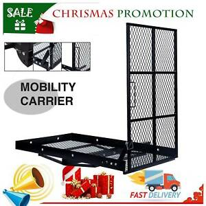Wheelchair Carrier Mobility Scooter Trailer Hitch Cargo Carrier w/Loading Ramp