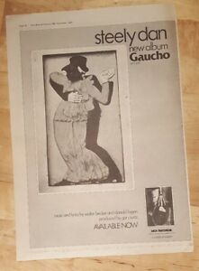 Steely-dan-gaucho-1980-press-advert-Full-page-37-x-27-cm-poster