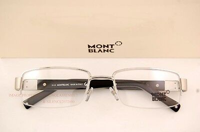 Brand New MONT BLANC Eyeglass Frames 444 017 Silver For Men 100% Authentic