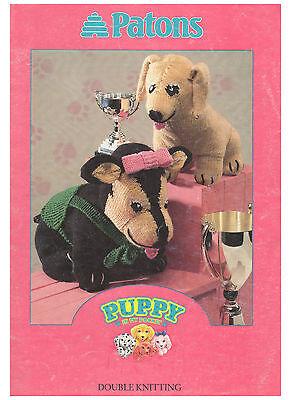 vintage puppy in my pocket toy knitting pattern 99p