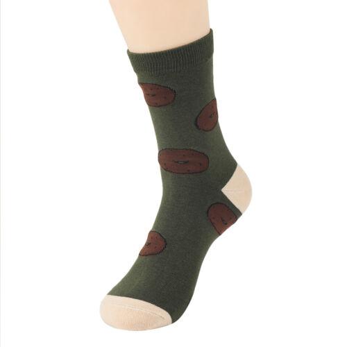 Fashion Men Bread Food Design Cotton Sock Casual Sock Autumn Winter Warm Sock