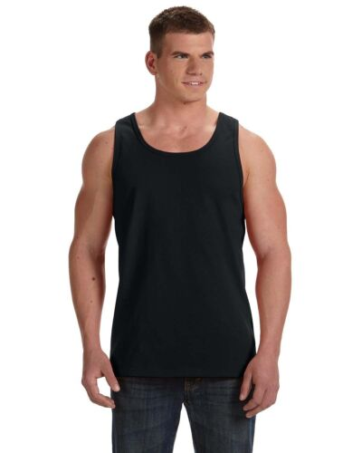 LOT OF 2 Mens Fruit of the Loom Tank Top T-Shirt NWT BLACK SMALL