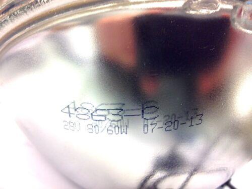 2 EACH 28v 60w Headlights; 8741491 A-A-2044 A-A-2072 MS18008-4863 6240009663831