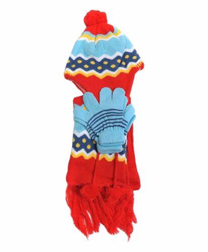 Kid/'s Peruvian GLOVE WNTSET10 HAT /& SCARF SET