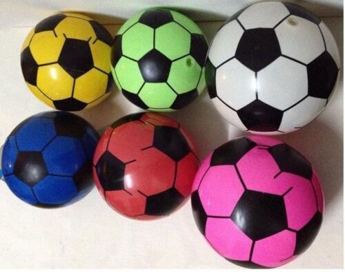 6 SOCCER BALL novelty toy kick balls SPORTS inflate play soccor kicking PVC toys