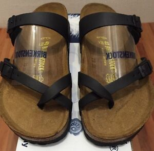 nouveau concept 3ea30 66d8d Details about Birkenstock Mayari 071791 Size 35/L4-4.5 R Birko-Flor Black  Sandals