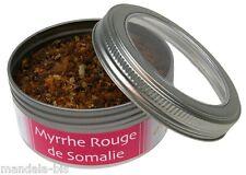 Encens MYRRHE Rouge Grains et Poudre -  Boite de 100G (Rituels et Cérémonies)