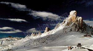 Quadro-legno-59-x-32-cm-stampa-in-alta-qualita-paesaggio-Passo-Giau-inverno-neve