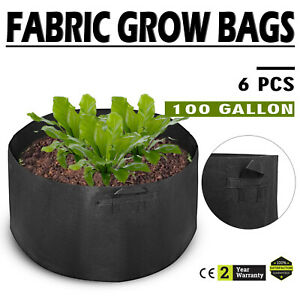 6-Pack-100-Gallon-Fabric-Plant-Grow-Bags-With-Handles-Gardening-Pots-Overheads