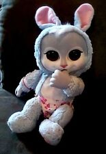 "Jakks Pacific ANIMAL BABIES BLUE BUNNY RABBIT Stuffed 14"" Plush Doll BIG eyes"