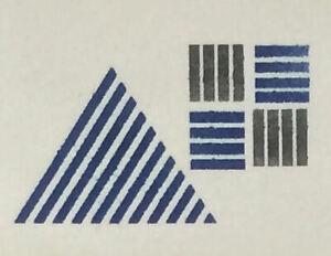 Détails Sur Peinture Murale Pochoir Triangle Carré Design 20cm Qualité Sérigraphie Outil