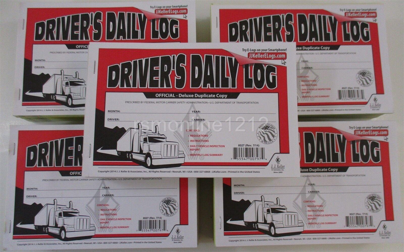 JJ Keller 8527 (601L) Duplicate Driver's Daily Log Books with Carbon - 50 Books