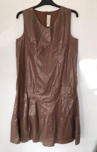 44 Dress Marni Waist Designer Glass Effect Neutral Drop Size Eu Womens pwaqHvq