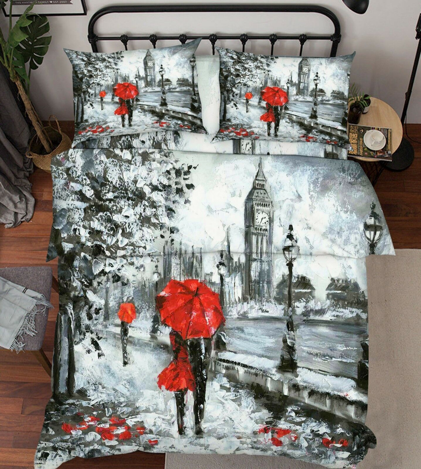 3D Painted Street 83 Bed Pillowcases Quilt Duvet Cover Set Single Queen King CA