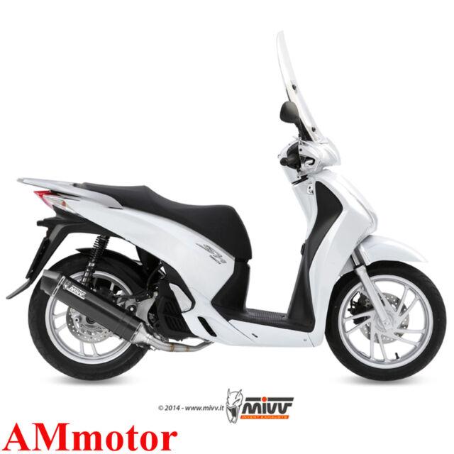 Escape Completo Moto Mivv Honda Sh 125 2015 15 Silenciador Stronger Black