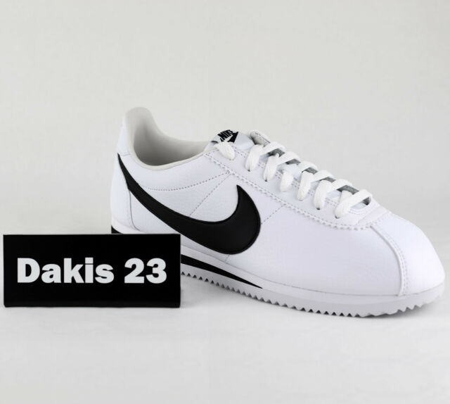 finest selection f30f7 0be52 Nike Classic Cortez Leather Men Lifestyle Sneakers New White Black  749571-100