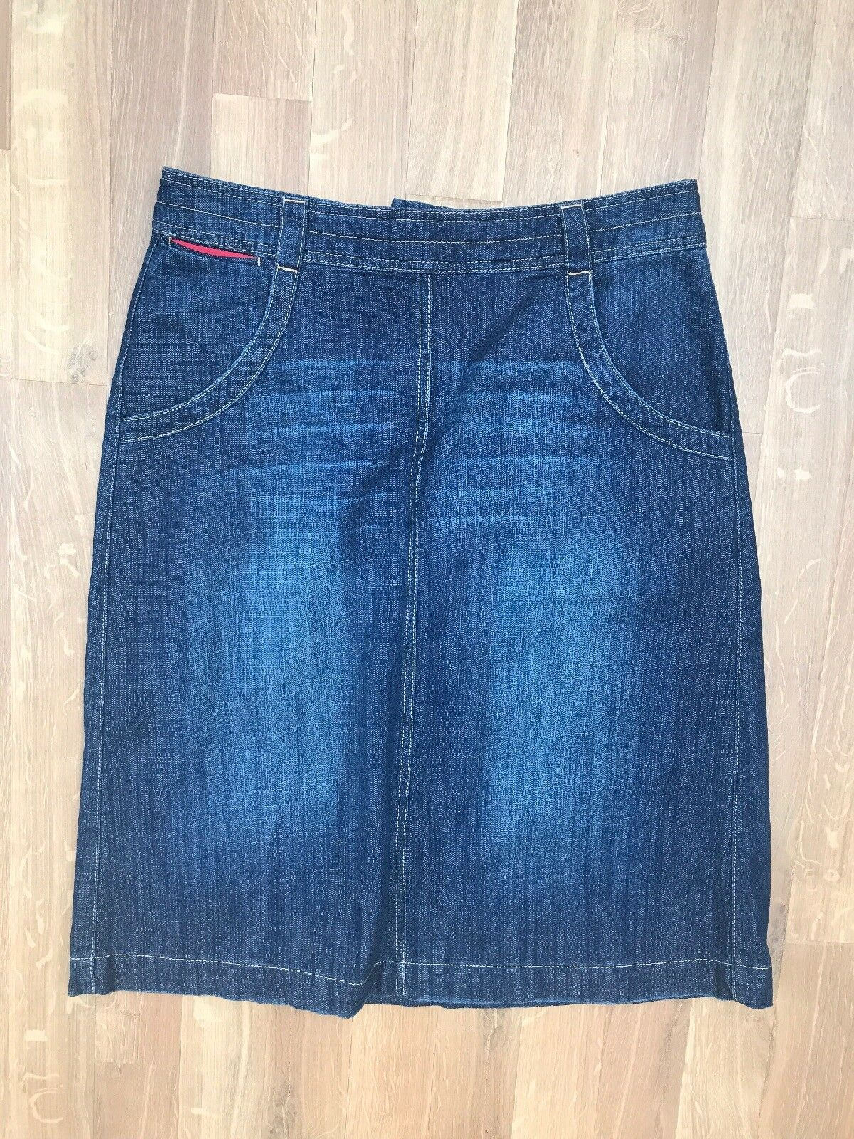 White Stuff Denim Skirt Size 12 bluee Navy Cotton