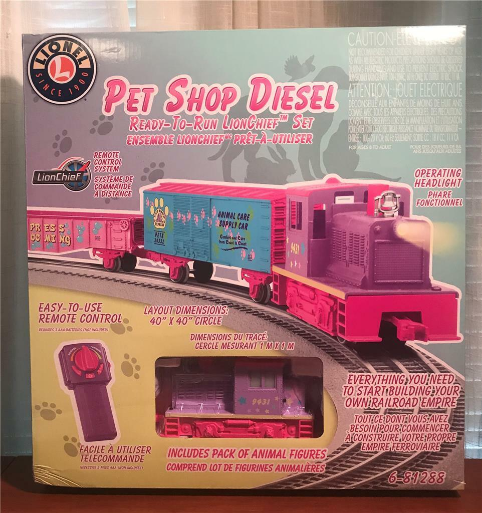 Lionel Electric  Pet Shop Diesel  Remote Control O-Scale Train Set New in Box .