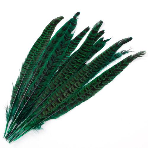 20 x Natur Flügelfedern Fasan Hutschmuck Karneval Fasanenfedern Federn