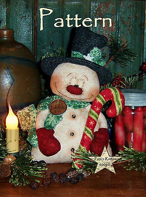 Primitive Patti's Ratties Snowman Christmas Frosty Doll Paper Pattern #541