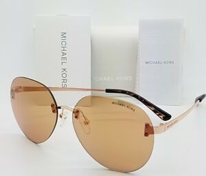 New-Michael-Kors-Sydney-sunglasses-MK1037-1108R1-Gold-Gold-Flash-1037-GENUINE