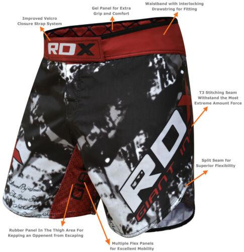 RDX Gel Fight Shorts MMA Grappling Short Kick Boxing Muay Thai Cage Pant AU