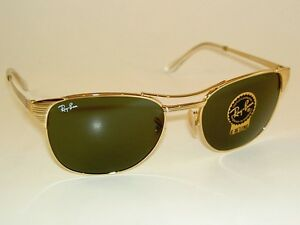ray ban golden frame glasses  image is loading new ray ban sunglasses signet gold frame rb