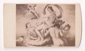 Vintage-CDV-Album-Filler-Religious-Painting-Cherubs-Angles