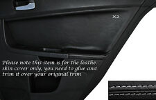 GREY Stitch 2x POSTERIORE PORTA CARD Trim pelle copertura Si Adatta Mitsubishi Lancer Evo X 10