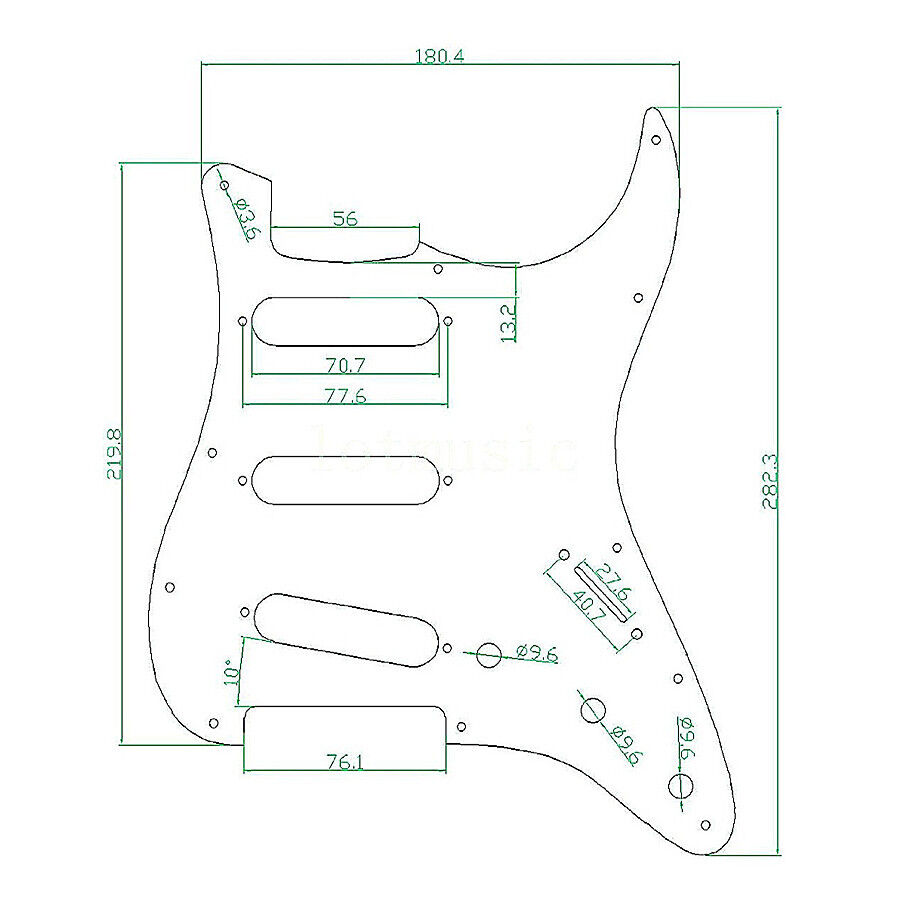 guitar pickguard for fender strat stratocaster parts 3 ply