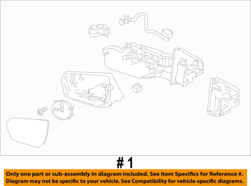GM OEM FRONT DOOR-Mirror Assembly Right 84225387
