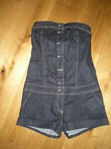 di 14 Topshop taglia abbigliamento zecca estivo Hotpants Moto denim senza maniche nuovo zFYxzq