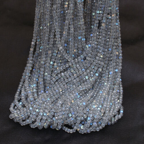 """Labradorite Blue Fire 2mm-3mm Faceted Rondelle Beads 13/"""" Line Details about  /10 Strands Pack"""
