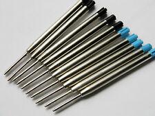 10PCS for Parker style  Ballpoint Pen ink Refills lot - BLUE*5 & BLACK*5