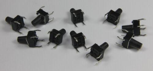 10x Taster 6x6x9 Kurzhubtaster Drucktaster Print Tactile switch DIP-4