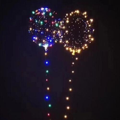 Grand Rond Transparent Bulle Transparent Allumer Ballon 30 Leds Fête de Noël