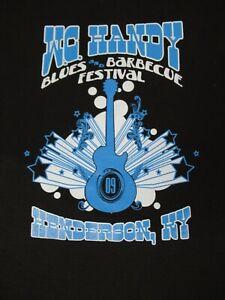 Nwot-Mc-Handy-Blues-Festival-Tommy-Castro-Fascia-Nero-Grande-T-Shirt-D213