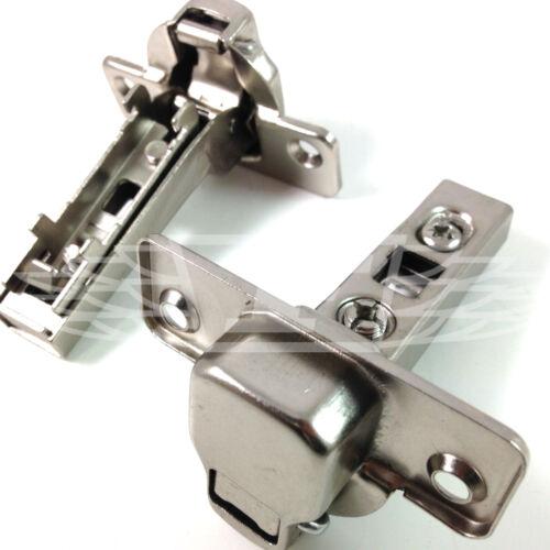 Clip sur la moitié Overlay 35 mm 110 ° Meuble Cuisine Charnières de porte backplates euroscrews