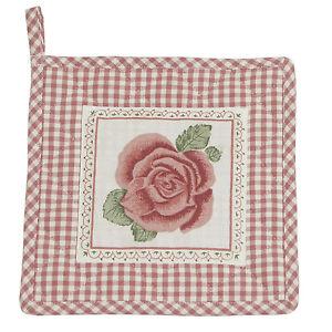 ROMANTIC-ROSE-rosa-Topflappen-Clayre-amp-Eef-RR45