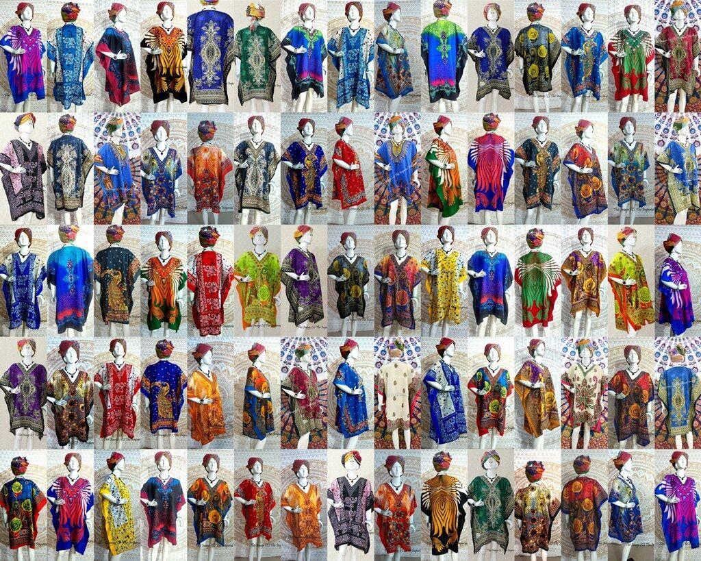 Wholesale Lot 100 Assorted Nightwear Beach Tunic Maxi Dress Women Kaftan Short