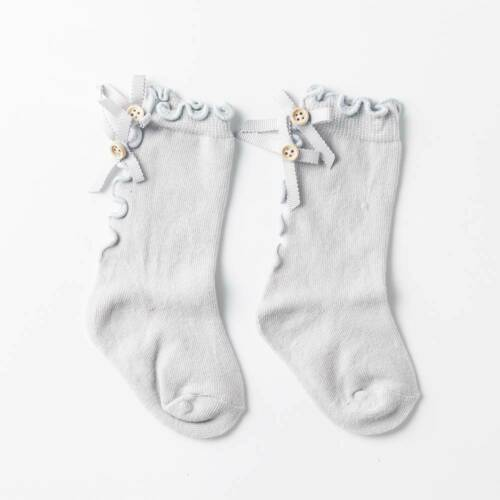 Baby Girls Knee High Stockings Toddlers Bowknot Spanish Style School Cotton Sock